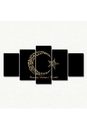 AntiQa Trendy Collection 5 Parçalı MDF Tablo ANQ169