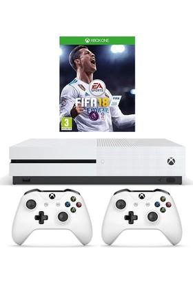 Microsoft Xbox One S 1 TB + 2. Kumanda + Fifa 18