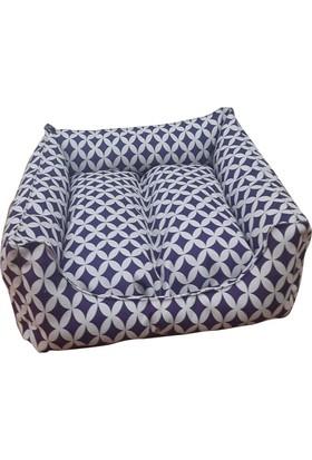 Mrs.Pillow Masal 8 Desenli Kedi Ve Köpek Yatakları 45 x 45 Cm Çap