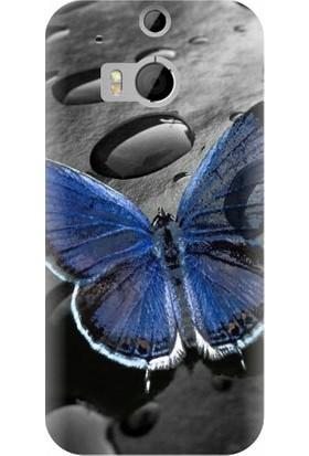 Kapakolur HTC M8 Kabartmalı Kelebek Temalı Kapak Kılıf