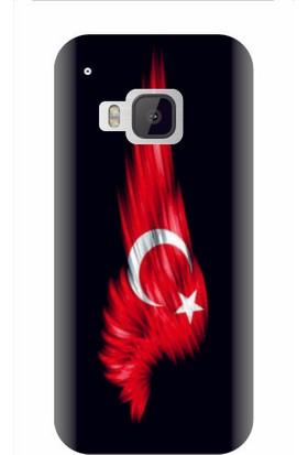 Kapakolur HTC One M9 Şanlı Bayrak Kapak Kılıf + Ekran Koruyucu Cam