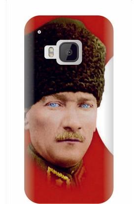 Kapakolur HTC One M9 Atatürk Baskılı Kapak Kılıf + Ekran Koruyucu Cam