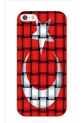 Kapakolur iPhone 5/5S Şanlı Bayrak Kapak Kılıf + Ekran Koruyucu Cam