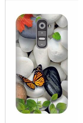 Kapakolur LG G2 Mini Kelebek Kapak Kılıf + Ekran Koruyucu Cam
