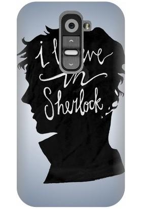 Kapakolur LG G2 Mini Sherlock Baskılı Kapak Kılıf + Ekran Koruyucu Cam
