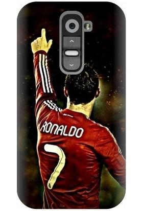 Kapakolur LG G2 Mini Ronaldo Baskılı Kapak Kılıf + Ekran Koruyucu Cam