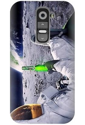 Kapakolur LG G2 Mini Astronot Baskılı Kapak Kılıf + Ekran Koruyucu Cam