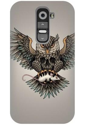 Kapakolur LG G2 Mini Baykuş Baskılı Kapak Kılıf + Ekran Koruyucu Cam
