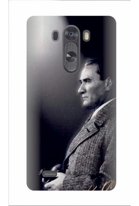 Kapakolur LG G3 Atatürk Baskılı Kapak Kılıf + Ekran Koruyucu Cam