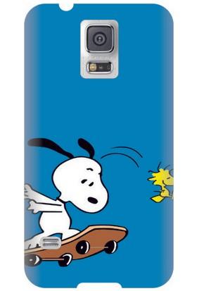 Kapakolur Samsung Galaxy S5 Snopy Baskılı Kapak Kılıf + Ekran Koruyucu Cam