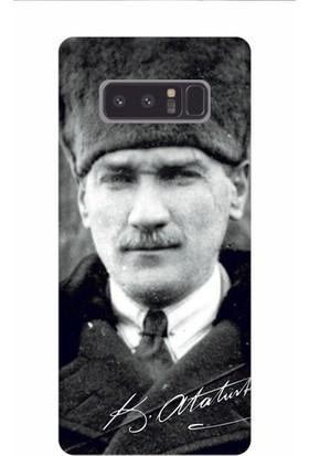Kapakolur Samsung Note 8 Atatürk Baskılı Kapak Kılıf + Ekran Koruyucu Cam
