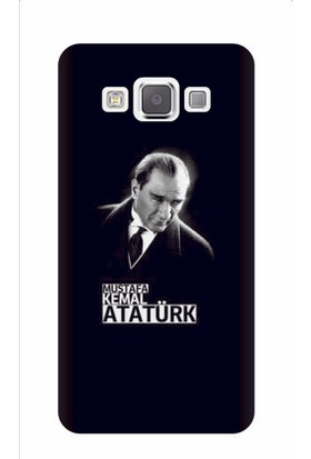 Kapakolur Samsung A8 Atatürk Baskılı Kapak Kılıf + Ekran Koruyucu Cam