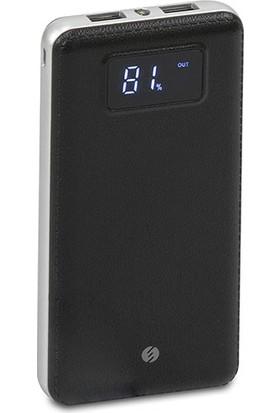 S-Link IP-G18 12000mAh LCD Ekran Powerbank Siyah Taşınabilir Pil Şarj Cihazı