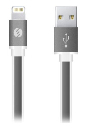 S-Link Swapp SW-C603 1m 2A iPhone5/6/iPad Metal Slim Siyah Lightning Kablosu