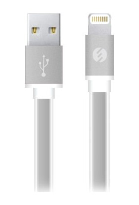 S-Link Swapp SW-C601 0.2m 2A iPhone5/6/iPad Metal Slim Beyaz Lightning Kablosu