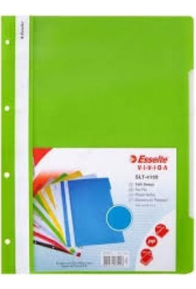Esselte 4199 Plastik Telli Dosya 50'li Renk - Yeşil