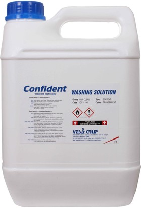 Confident Icc-100 Yıkama Solventi