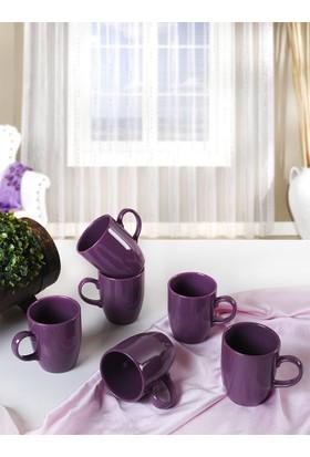 Keramika 6 Adet 9 Cm Bulut Kupa Mor 498