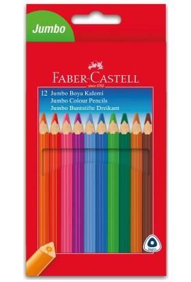 Faber-Castell Boya Kalemi 12 Renk Jumbo Tam Boy Üçgen