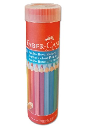 Faber-Castell  Boya Kalemi 12 Renk Jumbo Tam Boy Tüp Üçgen