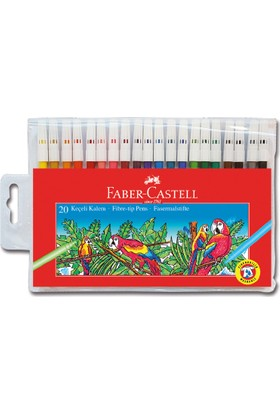 Faber-Castell Keçeli Kalem 20 Renk Yıkanabilir