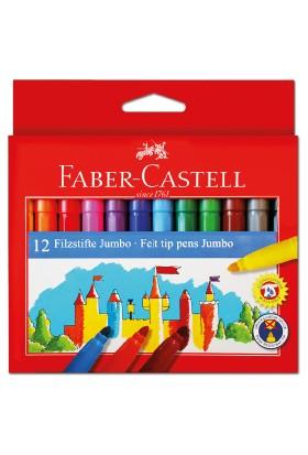 Faber-Castell Jumbo Keçeli Kalem 12'li