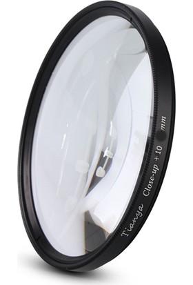 Tianya Nikon 50mm F1.8D Lens için 52mm Close Up +10 Macro Makro Filtre