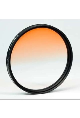 AZT 58mm Gradual Degrade Kademeli Turuncu Orange Efekt Filtre