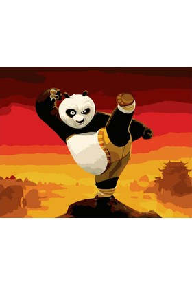 Eron Sanat Kung Fu Panda Numaralı Boyama Seti Zorluk Seviyesi 3