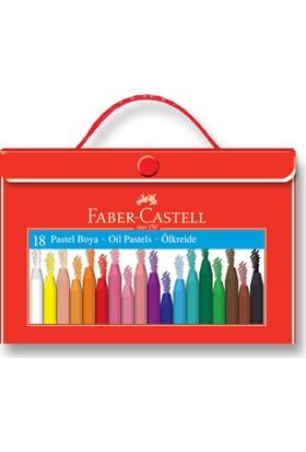Faber-Castell Plastik Çantalı Tutuculu Pastel Boya, 18 Renk