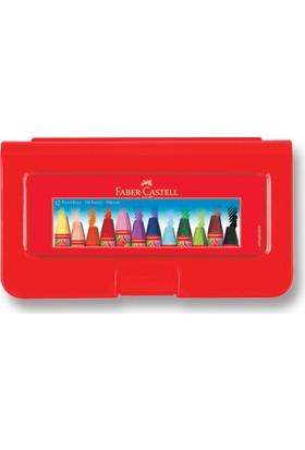 Faber-Castell Altıgen Pastel Plastik Kutu,12'li