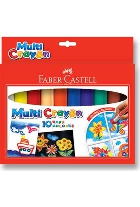 Faber-Castell Multi Crayon Pastel10 Renk