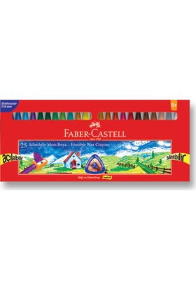Faber-Castell Silinebilir Mum Boya, 25 Renk