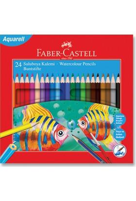 Faber-Castell Karton Kutu Aquarel Boya Kalemi 24 Renk