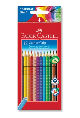 Faber-Castell Grip 2001 Boya Kalemi 12 Renk