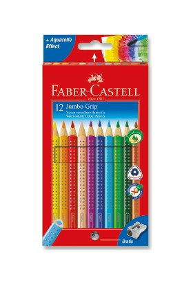 Faber-Castell Jumbo Grip Boya Kalemi 12 Renk