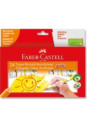 Faber-Castell Jumbo Üçgen Ekolojik Boya Kalemi, 24 Renk
