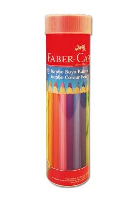 Faber-Castell Boya Kalemi 12 Renk Jumbo Tam Boy Tüp