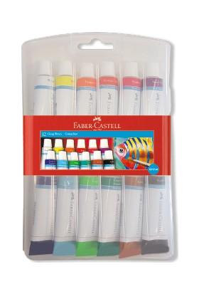 Faber-Castell Tüp Guaj Boya 12 Renk