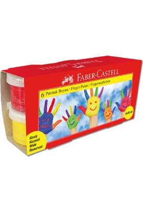 Faber-Castell Parmak Boyası 45ml. 6 Renk