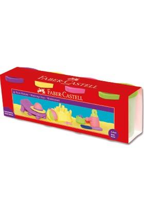 Faber-Castell Silindir Oyun Hamurları, 4 Pastel Renk