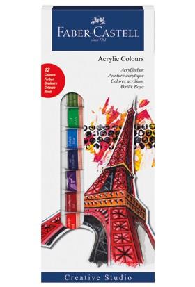 Faber-Castell Akrilik Boya 12 renk, 12 ml tüp