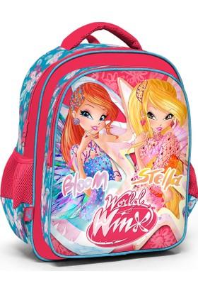 Winx Club Pembe ilkokul Sırt Okul Çantası Bloom Stella 63265
