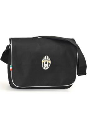 Juventus Postacı Çanta 39*29*12 cm (Siyah-Beyaz)