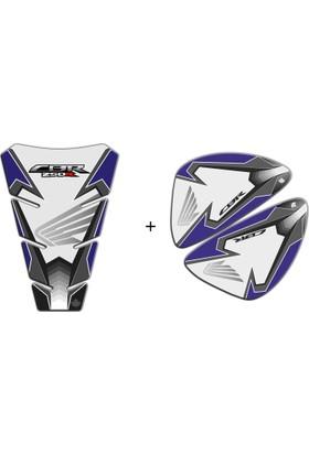 Honda CBR 250R Gri Mavi Tank Pad & Yan Pad Seti