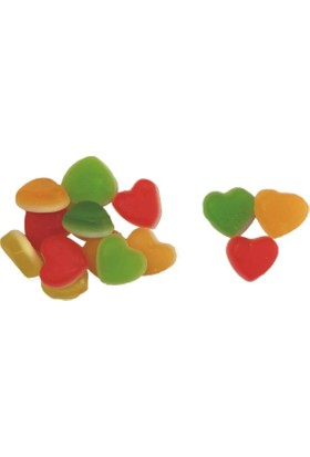 Çerez Tabağı Kalpli Yumuşak Şeker 100 gr