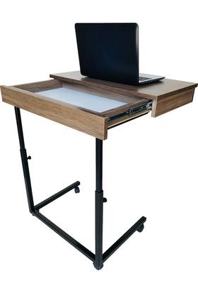 İrem Çekmeceli, Tekerlekli Laptop Masası ve Sehpası Yükseklik Ayarlı