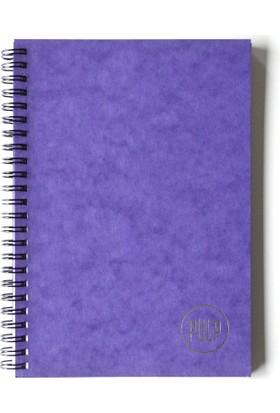 Pulp Lustre Purple Çizgisiz Defter (A5)