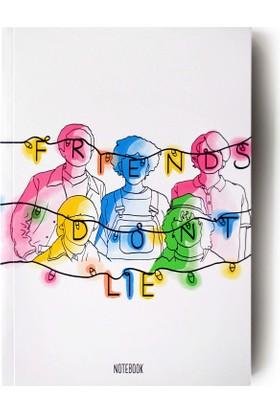 Pulp Friends Don't Lie II Çizgisiz Defter (A5)