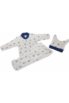 Sebi 52504 Unisex Şemsiyeli Ayıcık Pijama Takımı